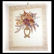 Quality Framed Decorative Arts Pressed Flower / Floral Bouquet