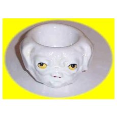 Vintage Ceramic British Bull Dog Egg Cup
