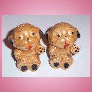 1930 - 40's Bonzo Dog Lustre Salt & Pepper Shakers MIJ AS IS