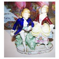 H.P. Porcelain Colonial Couple Figurine 3969 Germany 24