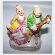 Colonial Couple Hand Painted Figurine MIJ