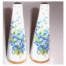 Forget me Knot Floral Motif Salt & Pepper Shakers Royal Stuart