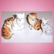 Lot ( 4 ) Vintage Ceramic Kitty Cat Figurines