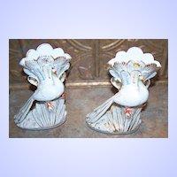 Conta Boehme Heavy Porcelain Vintage Peacock Vase Set
