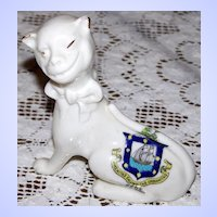 Smiling Cheshire Cat Crested China Ware RYDE Isle Wight