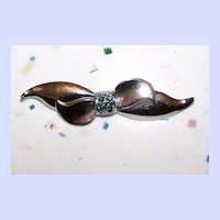 Vintage Bond Boyd Sterling Bow Pin / Brooch