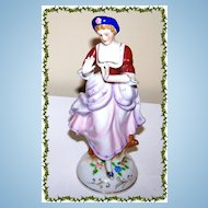 Ceramic Occupied Japan Colonial Lady Figurine