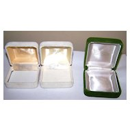 Lot 3 Crushed Velvet Presentation Jewelery Boxes Eaton / Eaton's