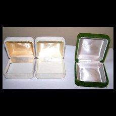 Lot 3 Crushed Velvet Presentation Jewelery Boxes Eaton / Eaton's