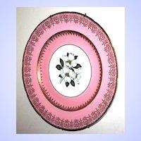 Earthenware Plate Trillium Floral Motif Sovereign Potters Canada