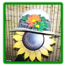 Kates Boutique Canada Vintage 1970's  Straw Hat