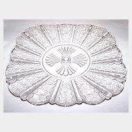 Oh So Pretty Paneled Daisy  / Brazil / Daisy & Panel Pressed Glass Plate