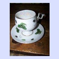 MIJ Table Wares Lustre Ware Tea Cup & Saucer Pedestal Style