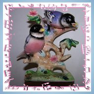 Collectible Vintage Chickadee Bird Figurine Japan