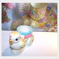 Ceramic Chick Egg Cup Cart Japan