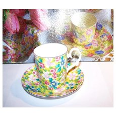 Cocoa Cup Demitasse Chintz Royal Albert  SERENADE
