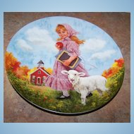 Mary Had A Little Lamb Plate Recom 1985