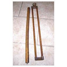 Wood Roller Blind Rod and Bracket