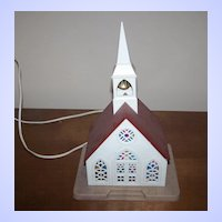 Vintage Plastic Church Lamp / Light