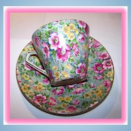 """Chintz Tea Cup & Saucer """" Briar Rose """" Lord Nelson"""