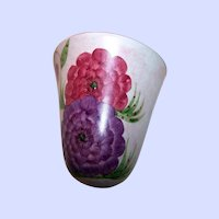 E Radford Pottery Wall Pocket Pink Purple Zinnia Home Decor Accent