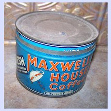 """Vintage Advertising Coffee Tin Maxwell House """"Good to the Last Drop"""""""