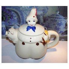 Tom The Piper's Son Tea Pot Shawnee Pottery