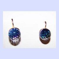Faceted Rainbow Crystal Clip Style Earrings