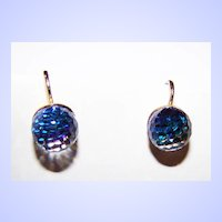 Faceted Rainbow Crystal Clip Style Earrings