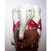 Elephant Hand Painted Ceramic Egg Cup