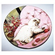 3 KITTY CAT Little Rascal Kitten Classics Collector  Cat Plate Royal Worcester Bone China
