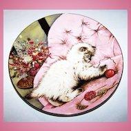 3 KITTY CAT Little Rascal Kitten Classics Collector  Cat Plate Royal Worcester Bone China