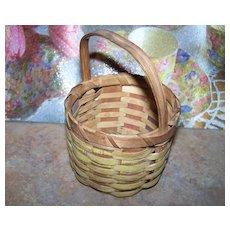 Vintage Miniature  Mi'kmaq  Woven Basket