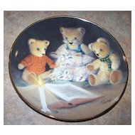 "Collector Plate Teddy Bears and Kitty Cats ""Story Hour"" Franklin Mint"