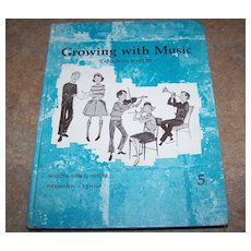 Growing With Music Canadian Addition Hard Covered Children's  School Text Book