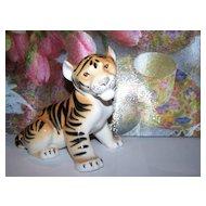 Lomonosov  USSR Figural Porcelain Siberian Tiger Cub Figurine
