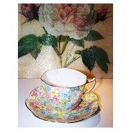 Rosina Chintz Tea Cup & Saucer Bone China