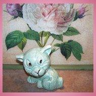 Rare Price Bros Burslem England Green Puppy Dog Pottery Figurine