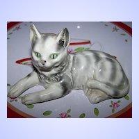 Pretty Porcelain Tabby Kitty Cat Erphila Germany MeOw ~^..^~