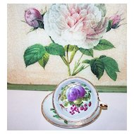 Pretty Mixed Berry Fruit Tea Cup & Saucer Royal Grafton