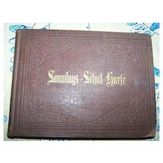 Wackernagel & Bendel 1873 Song Book Sonntags Schul Harfe
