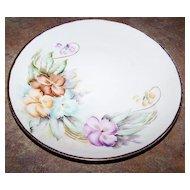 "Hand Painted Floral Plate 8.5"" M.Z. Austria"