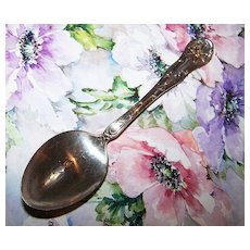 Glenwood Silver Co. Silverplate Spoon Art Nouveau Style Floral Motif