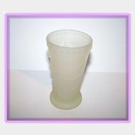 """4"""" tall Deco Style Frosted  Camphor Glass vase"""