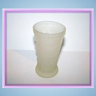 "4"" tall Deco Style Frosted  Camphor Glass vase"