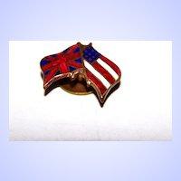 Enamel Tac Pin Flags USA Stars & Stripes / Union United Kingdom