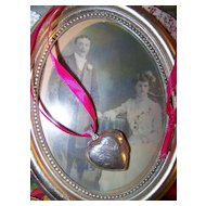 Sentimental 925 Sterling Silver Etched Puffy Heart Locket Pendant Pendent