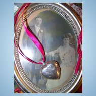 Sentimental 925 Sterling Silver Etched Puffy Heart Locket Pendant Pendant