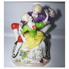 Decorative Colonial Couple Hand Painted Figurine