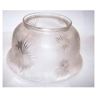 Vintage Glass Shade Sun Burst Motif